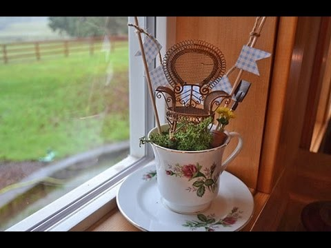 DIY Fairy Garden Teacup Tutorial