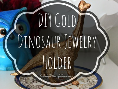 DIY Gold Dinosaur Jewelry Holder