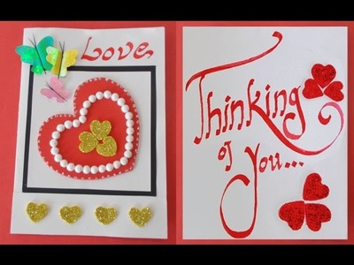 DIY Handmade Card : How to Make an Easy Valentine's Day Card - Gifts Ideas