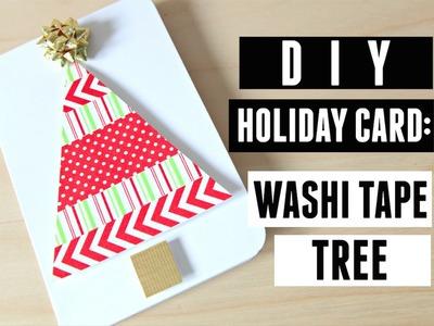 DIY Holiday Card: Washi Tape Tree (MACM 2.4)