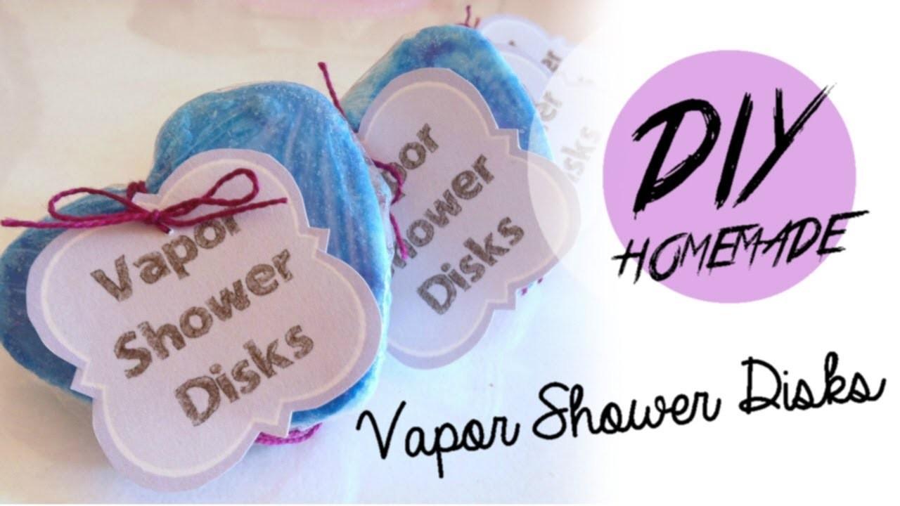 DIY Homemade Vicks Vapor Shower Disks - A remedy for stuffy nose and sorethroat!