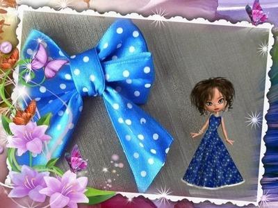 DIY how to make a bow of satin ribbon Tutorial
