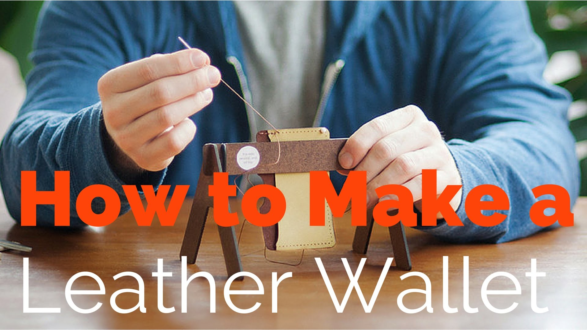 DIY: How to Make a Leather Wallet (and Giveaway!)