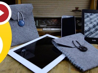 DIY Kindle. iPad. iPhone. Samsung Galaxy - Felt Case (idea for present)