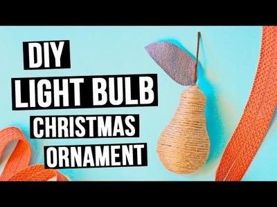 DIY Light bulb Christmas ornament