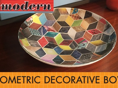 DIY: Make a modern geometric decorative bowl
