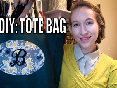 DIY: Monogrammed Tote Bag