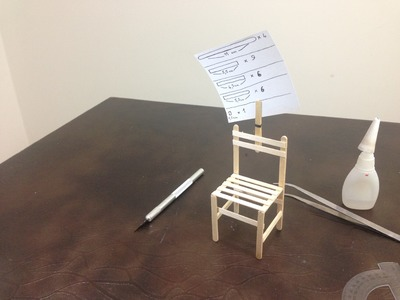 DIY Note card and photo holder clip mini chair