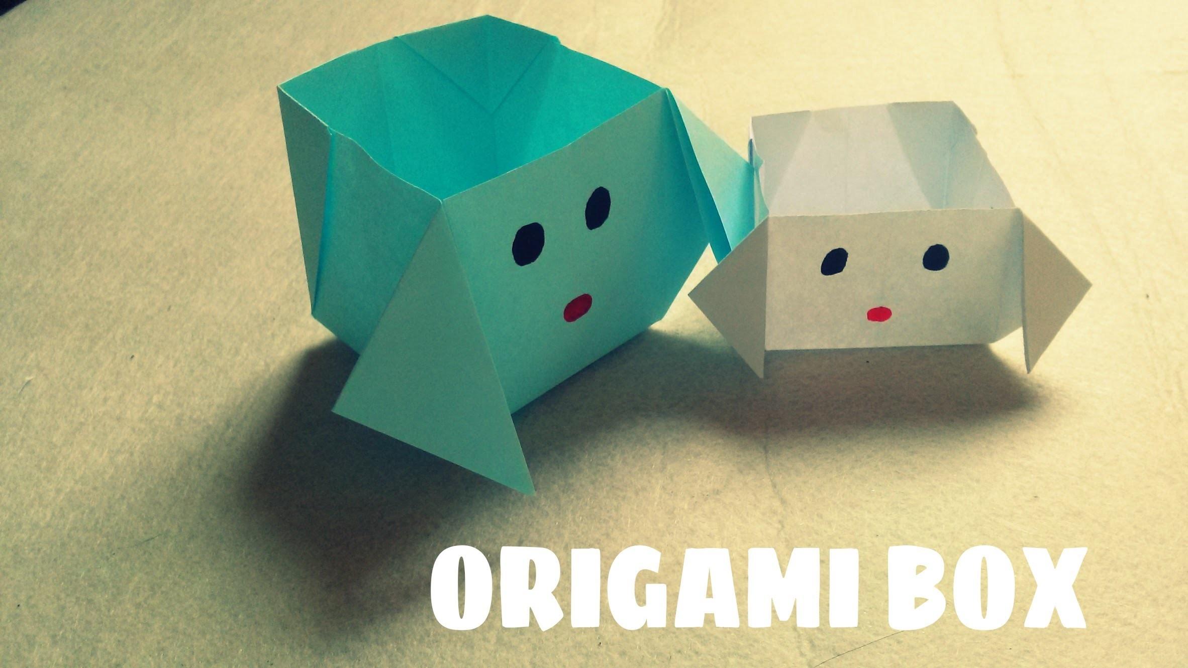 DIY - Origami Dog Box - Paper Dog Box