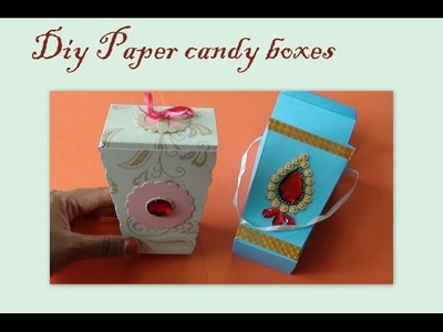 Diy Paper Candy boxes