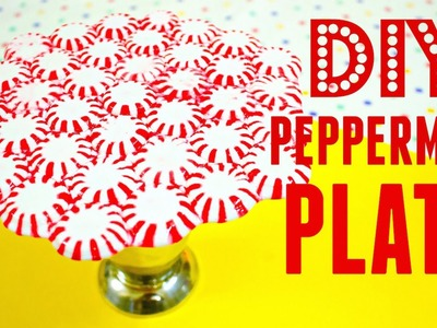 DIY Peppermint Candy Plate without Oven | How to Make Christmas Decorations