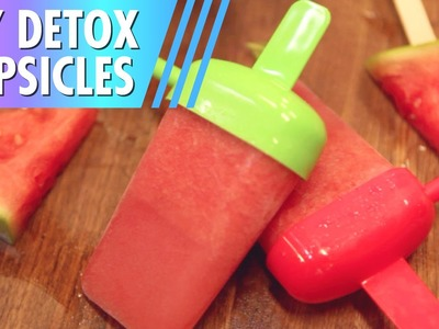 DIY Popsicles. Detox + Healthy!