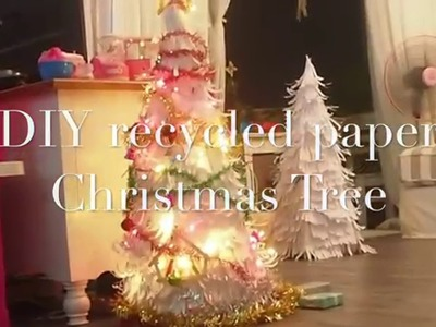 DIY recycled paper Christmas Tree
