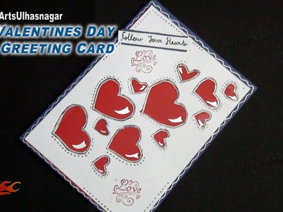 DIY Valentine's Day Greeting Card | How to make | JK Arts 852