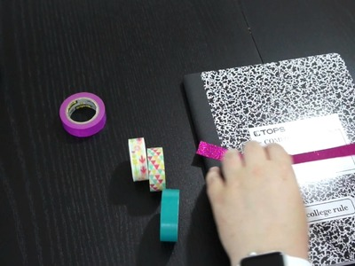 DIY Washi Tape Notebook School Supplies