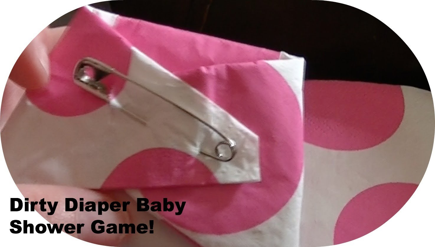 Easy Dirty diaper Baby Shower game DIY