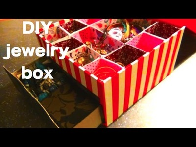 Easy DIY jewelry box-with compartments and drawer.minimalism