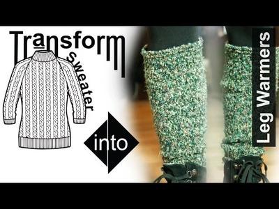 Easy DIY Transformation: Sweater - Leg Warmers