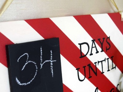 How To Create A Fun Christmas Countdown Sign - DIY Home Tutorial - Guidecentral