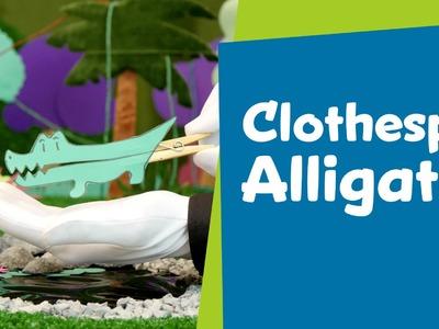 How to Make a Clothespin Alligator | DIY Crafts for Kids | SuperHands: Ep 03