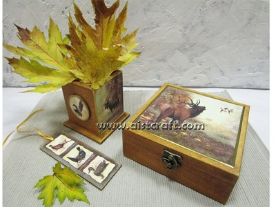 How to make a your own gift. Decoupage tutorial for beginners - DIY. Handmade craft ideas.