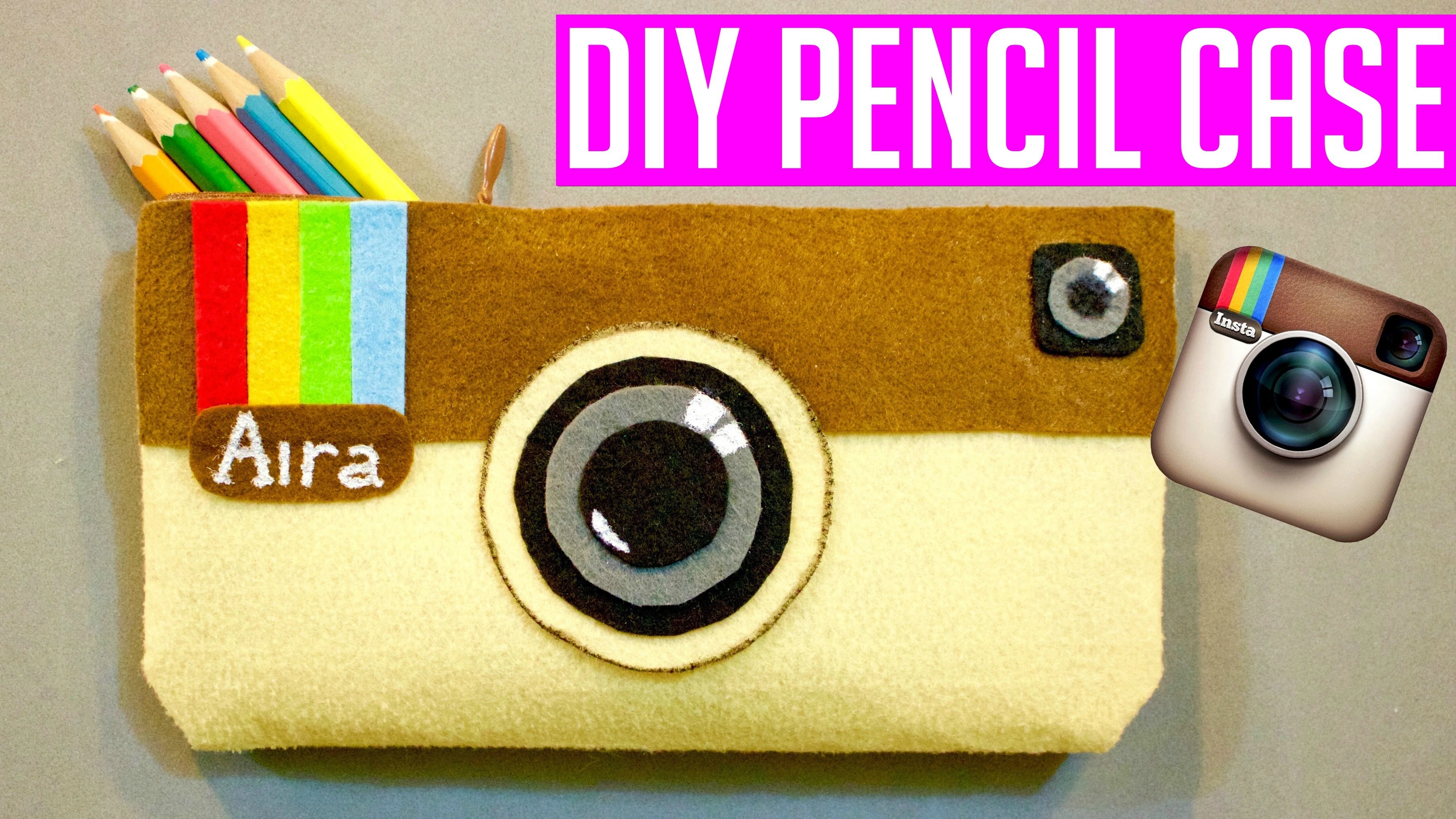 NO-SEW INSTAGRAM PENCIL CASE & MAKEUP BAG | DIY School Supplies EASY