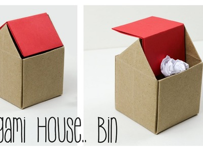 Origami Trash Bin Tutorial - DIY