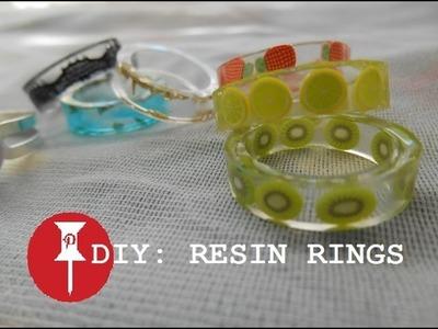 Pinterest inspired: DIY: RESIN RINGS