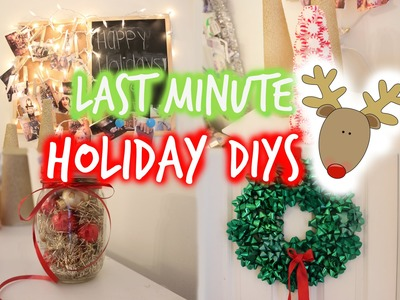Quick & Easy Last minute Holiday decor +4 SIMPLE DIY's ♡