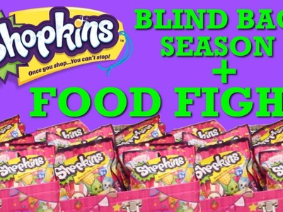 Shopkins FOOD FIGHT | Blind Bags Shopkins Season 2 | DIY Shopkins Food Collector's Guide Toypals.tv