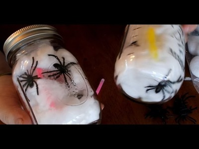 Spider Mason Jars DIY