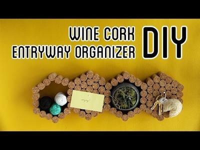Wine Cork Entryway Organizer DIY