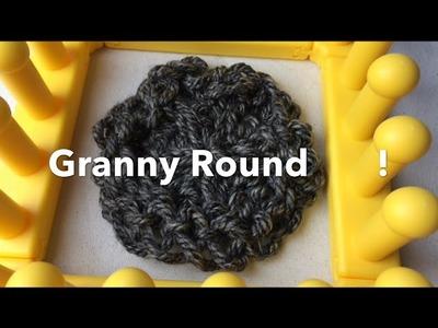 Zippy Loom Knit Granny Round