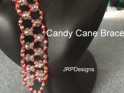 Candy Cane Bracelet--Beginner's Tutorial  Chevron Stitch