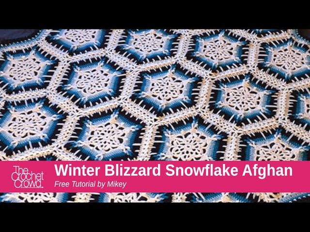 Crochet Winter Blizzard Snowflake Afghan Tutorial