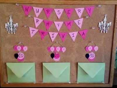 DIY baby shower games - Nursery Rhyme Trivia