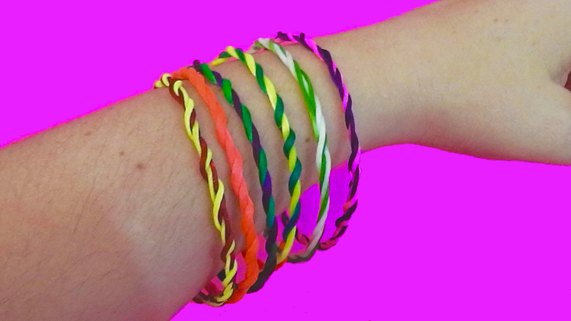 Diy bracelets easy with string. How to make bracelets with thread