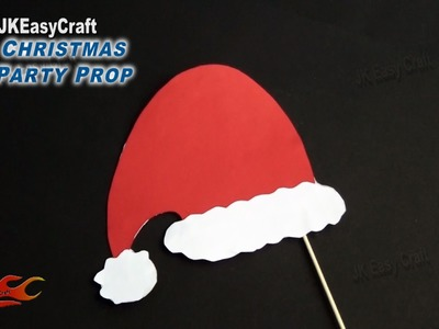 DIY Easy Christmas Cap Party Prop| Photo Booth Props | How to make | JK Easy Craft 115