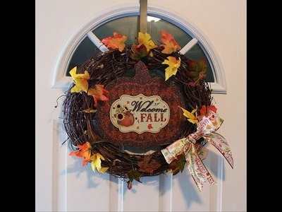 DIY Fall Wreath For Less Than $10 [Using Dollar Tree Supplies!!]