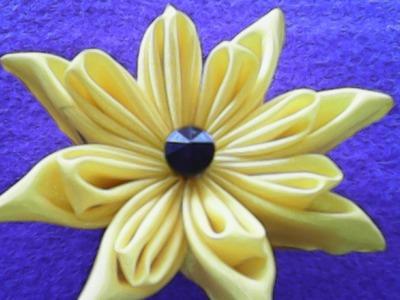 DIY-handmade-berkreasi membuat bunga dari kain satin-creative to make flowers of satin