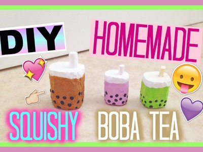 DIY Homemade Squishy Boba Tea