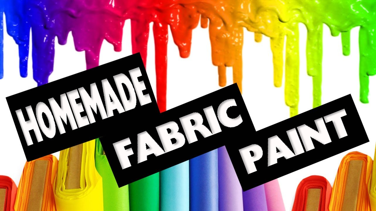 DIY | How to make Fabric Paint No Cook - Easy DIY Crafts
