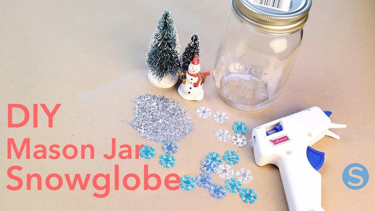 DIY: How To Make Mason Jar Snowglobes