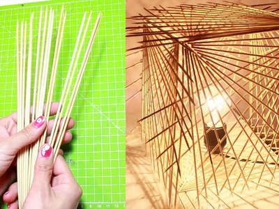 DIY: How to Turn Sticks Into a Decorative Lamp - Do It Yourself Lighting Ideas