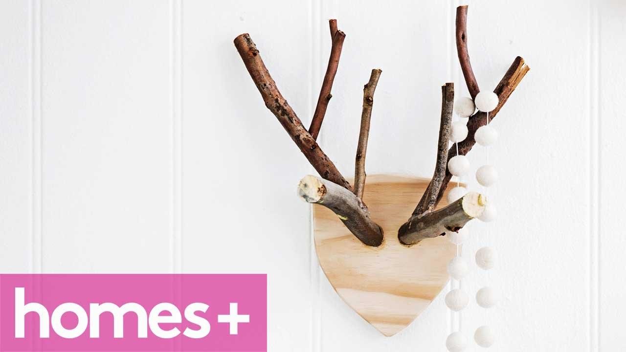 DIY IDEA: Rustic timber reindeer antlers - homes+