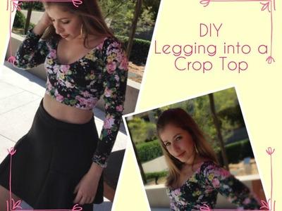 DIY - Legging Crop Top