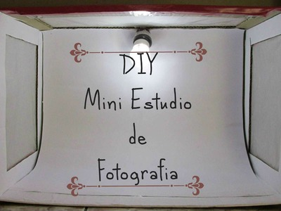 Diy Mini Estudio De Fotografia