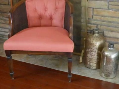 DIY Painted Upholstery: Vintage Barrel Chair