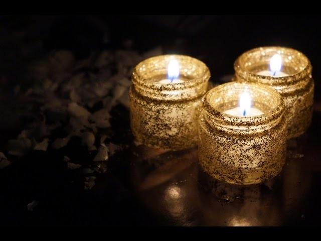 DIY: Potinhos de vidro com glitter para colocar velas - Hey Cute TV