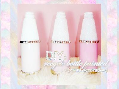 DIY: Recycled Bottle Painted (Room Decor) | TIARAMULFAR